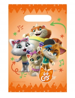 44 Chats™-Geschenkbeutel Kindergeburtstag Partydeko 8 Stück orange