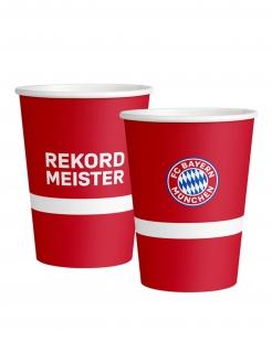 Kleine FC Bayern München™ Pappbecher 8 Stück rot-weiß-blau 250 ml