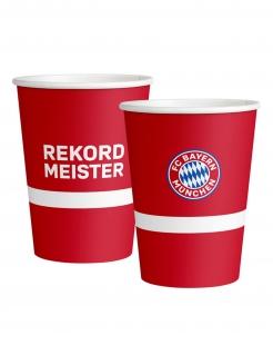 Große FC Bayern München™ Trinkbecher 6 Stück rot-weiß-blau 500 ml