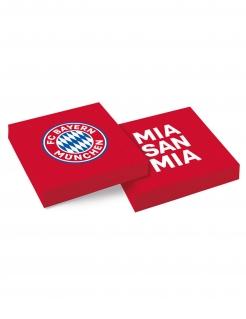 FC Bayern München™ Servietten 20 Stück rot-weiß-blau 33 x 33 cm