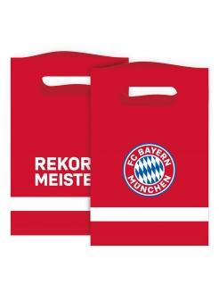 FC Bayern München™ Geschenktüten 8 Stück rot-weiß-blau 15 x 23 cm