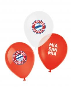 FC Bayern München™ Luftballons 6 Stück rot-weiß-blau 27 cm