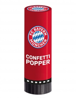 FC Bayern München™ Konfettikanonen 2 Stück rot-weiß-blau 15 cm