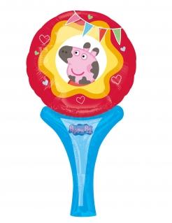 Peppa Wutz™-Aluminiumballon Miss Peppa bunt 15 x 30 cm