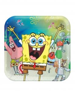 Spongebob Schwammkopf™-Pappteller 8 Stück bunt 23 cm