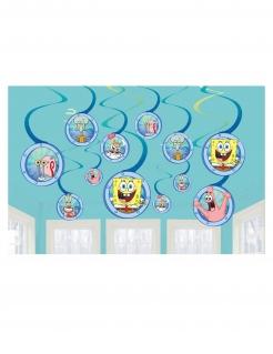 Spongebob Schwammkopf™-Hängedeko 12 Stück bunt
