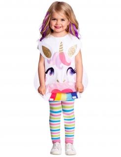 Einhorn-Kostüm für Kinder Schürze Faschingskostüm bunt