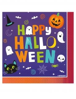 Happy Halloween-Servietten Partydeko 16 Stück bunt 33x33 cm