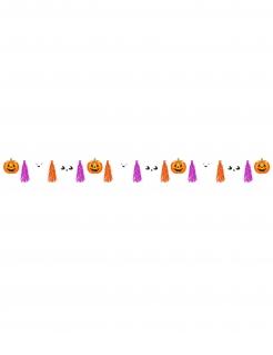 Kürbis-Tassel-Girlande Halloween-Partydeko orange-pink 3 m