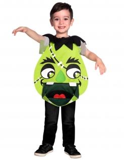 Monster-Tunika für Kinder Halloween-Kostüm grün-schwarz