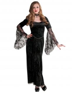 Gothic-Vampirmädchen Kostüm für Jugendlichen Halloween schwarz