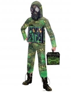 Alien-Kostüm für Jungen Alien in Quarantäne Halloweenkostüm grün