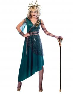 Medusa-Kostüm für Damen Faschingskostüm blau-gold