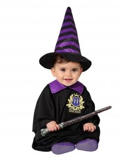 Zauberschüler-Kostüm für Babys Halloween-Kostüm schwarz-violett