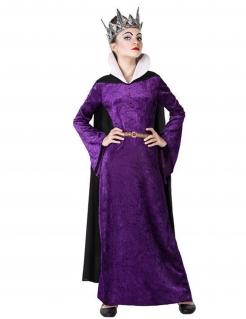 Gemeine Königin-Kostüm für Mädchen Halloweenkostüm violett-schwarz