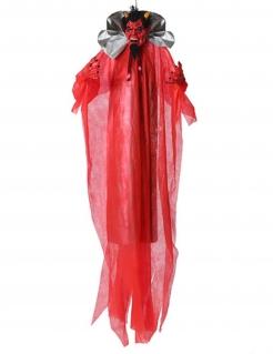 Teufel-Dekofigur animiert mit Leuchteffekt Halloween Partydeko rot-schwarz 190 cm