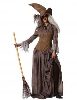 Traditionelles Hexen-Kostüm für Damen Walpurgisnacht braun
