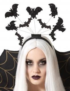 Fledermaus-Haarreifen für Damen Vampir-Accessoire für Halloween schwarz