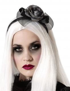 Gothic-Haarreif mit Rosen für Damen Halloween-Accessoire schwarz