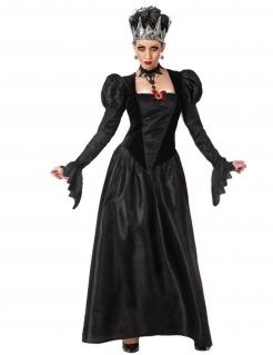 Gothic-Königin Damenkostüm Halloweenkostüm schwarz