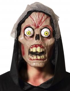Monster-Maske mit austretenden Augen Halloween-Maske beige-rot