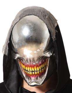 Augenlose Monster-Maske für Erwachsene Halloweenmaske silber