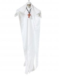 Geisternonne-Dekofigur mit Licht Halloween-Partydeko weiss 137 cm