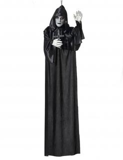 Mönch-Dekofigur mit Leuchteffekt Halloween-Deko schwarz-weiss 120 cm
