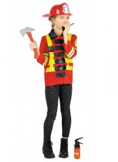 Feuerwehrkostüm für Mädchen mit Accessoires bunt
