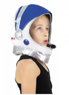 Astronauten-Helm für Kinder Kostümzubehör blau-weiß-schwarz