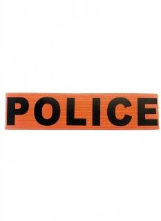 Polizei-Armbinde für Erwachsene Kostüm-Accessoire schwarz-orangefarben