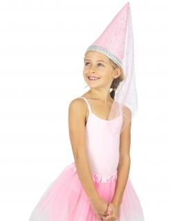 Prinzessin-Hut für Mädchen Faschings-Accessoire rosa-silber