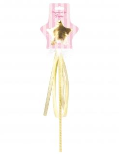 Fee-Zauberstab für Mädchen Faschingsaccessoire gold