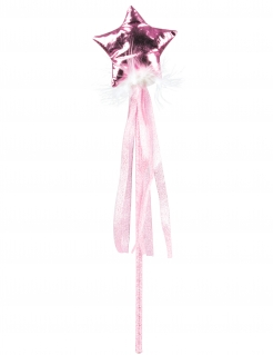 Fee-Zauberstab für Mädchen Faschingsaccessoire rosa