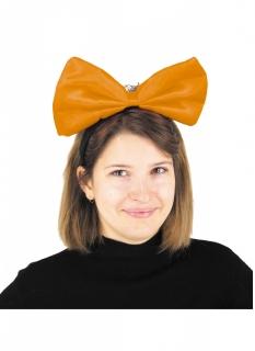 Riesige Haarschleife für Damen Kostüm-Accessoire orangefarben