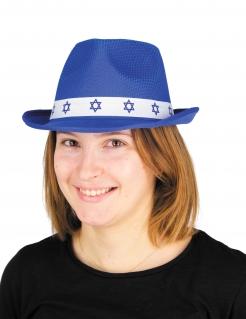 Bar Mitzwa-Hut für Erwachsene Accessoire blau-weiss