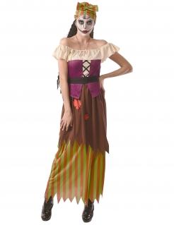 Schauerliches Voodoo-Kostüm für Damen Halloweenkostüm bunt