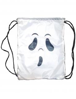 Geister-Rucksack für Kinder Halloween-Accessoire weiss-schwarz