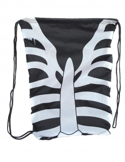 Skelett-Rucksack für Kinder Halloween-Accessoire schwarz-weiss