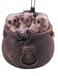 Kessel-Deko-Set für Halloween Partydeko 12-teilig braun
