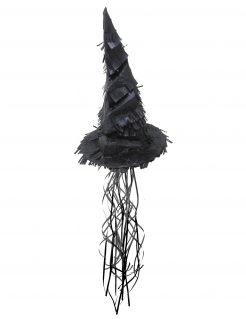 Hexenhut-Piñata Halloween-Partydeko Kindergeburtstag schwarz 50 cm