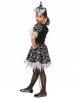 Süßigkeiten-Hexen-Kostüm für Mädchen Halloween-Kostüm schwarz-weiss