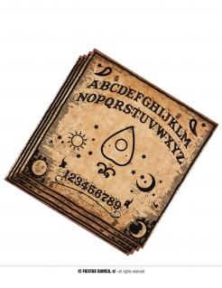 Ouija-Papierservietten Halloween-Tischdeko 20 Stück braun-schwarz 33 x 33 cm