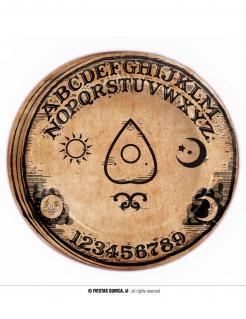 Mysteriöse Ouija-Pappteller Halloween-Tischdeko 8 Stück braun-schwarz 23 cm