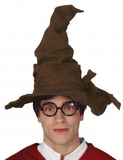 Zauberer-Hut für Erwachsene Halloween-Accessoire braun