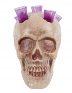Totenschädel Shooter Partydeko grau 20 cm