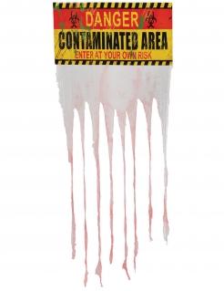 Zombie-Vorhang kontaminiertes Gebiet Partydeko bunt 135x90 cm