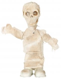 Mumien-Dekofigur mit Licht und Sound Partydeko Halloween beige 42 cm