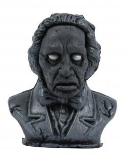 Skulptur-Dekoration mit Licht und Sound Halloween-Deko schwarz 34 cm