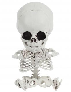 Baby-Skelett Dekofigur Halloween-Partydeko weiss-schwarz 20 cm